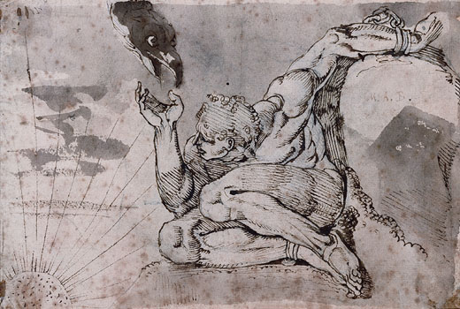 Prometheus sketch by Henry Fuseli
